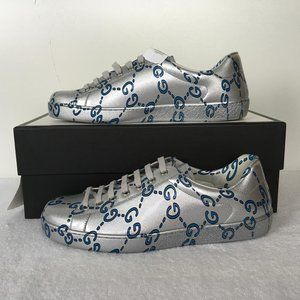 GUCCI Men's Ace  Ghost Silver Blue Coated Sz11 g65